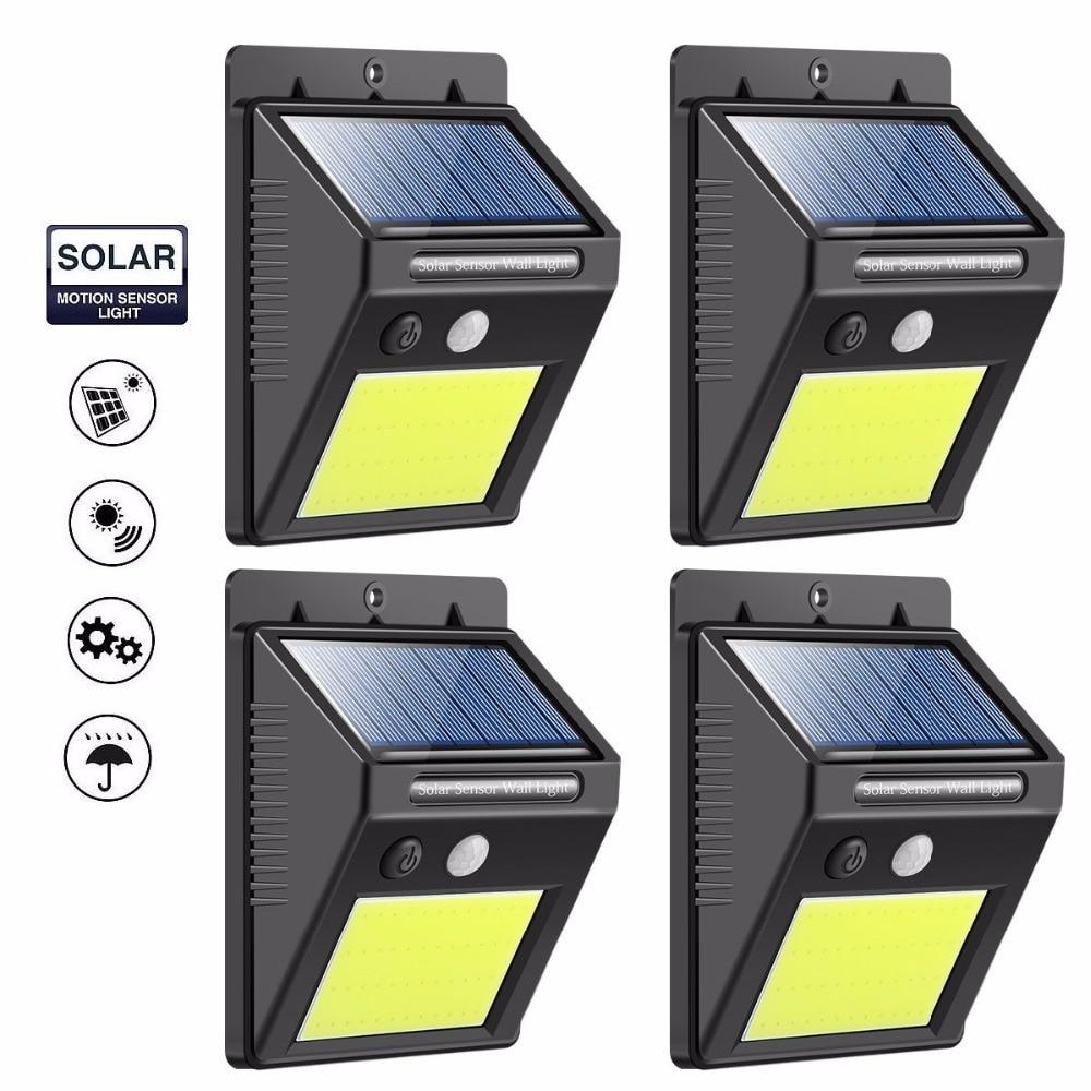 LED Solar Motion Sensor Lights Super Bright 48 LED Waterproof Solar Security Wall Lights Outdoor Home