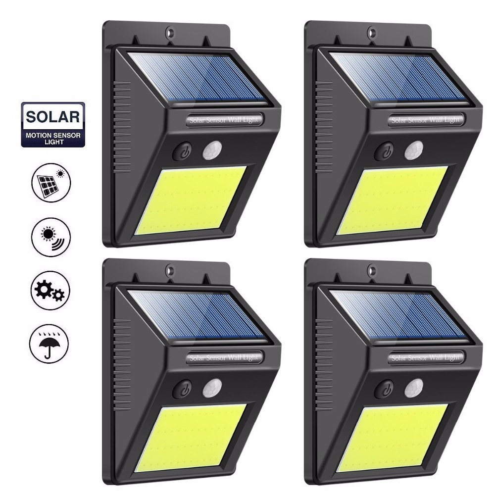 цены на LED Solar Motion Sensor Lights Super Bright 48 LED Waterproof Solar Security Wall Lights Outdoor Home Garden Energy Saving Lamp