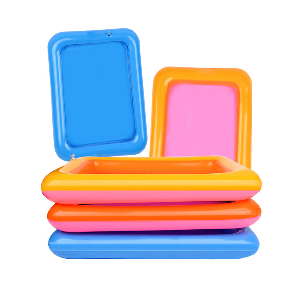 1pc Inflatable Sand Table Educational Toy Beach  Sandbox Magic Playing Sand Special Sand Box Sand Beach Mold Inflatable Toy