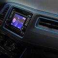 5 M Caliente Etiqueta Engomada Decorativa de Rosca tipo Inserto Interior styling Car Dashboard Tira de Decoración de Salida de Aire Del Coche Pegatinas