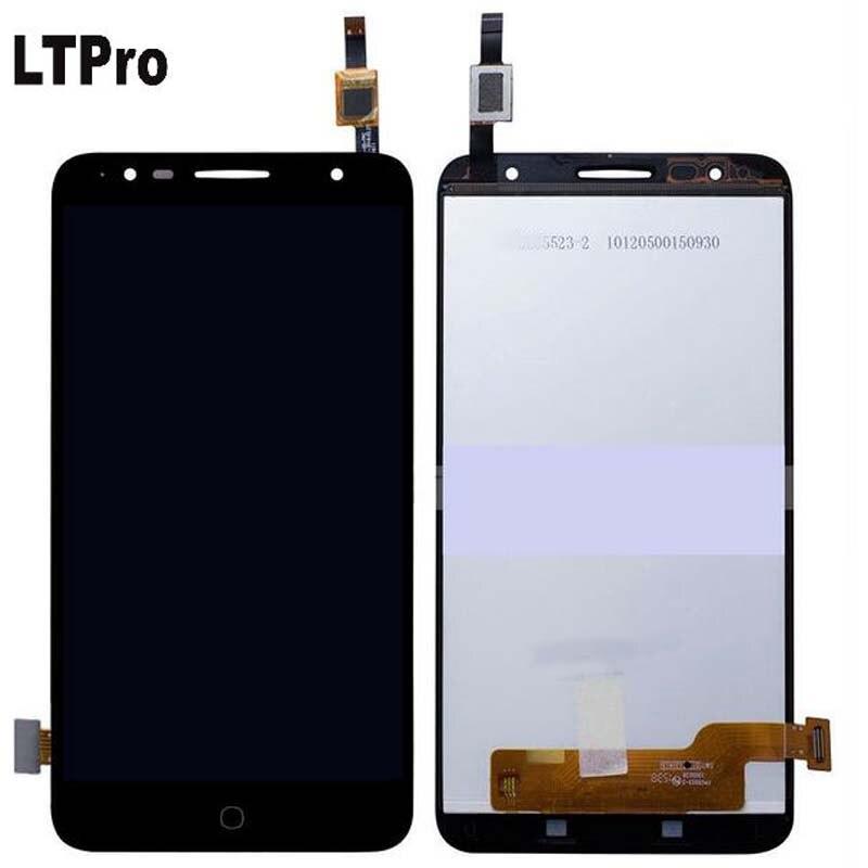 LTPro лучший рабочий ЖК дисплей кодирующий преобразователь сенсорного экрана в сборе для Alcatel Pop4 Plus OT5056 5056 5056A 5056D части сенсора телефона