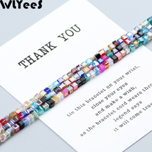 WLYeeS Square shape 3mm Austrian crystal beads 100pcs Glass Loose bead For Jewelry Necklace Bracelet Making DIY Wholesale