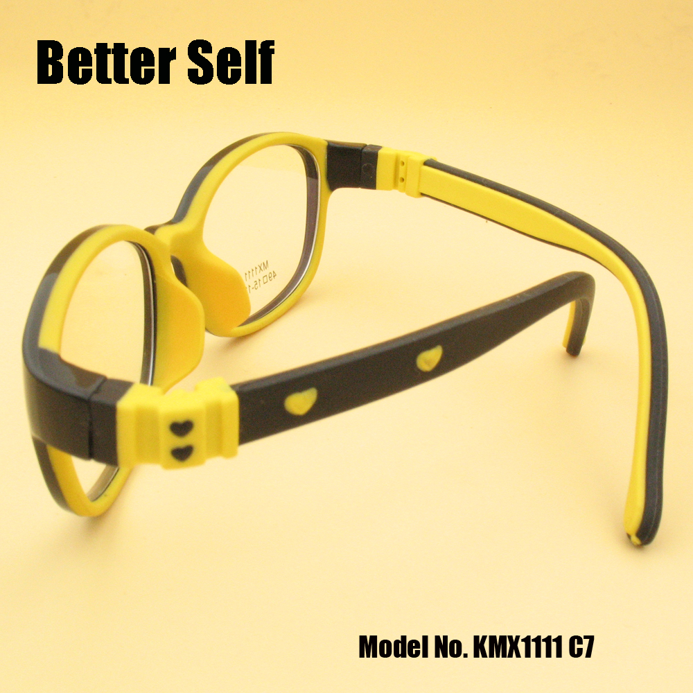 Full Rim Spectacle Frames Flexible Eyewear Soft Nose Pads Eyeglasses Kids Better Self KMX1111 in Men 39 s Eyewear Frames from Apparel Accessories