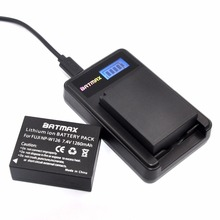 2PC 7 4V 1260mAh Li ion NP W126 NP W126 Battery LCD Dual Charger for Fujifilm