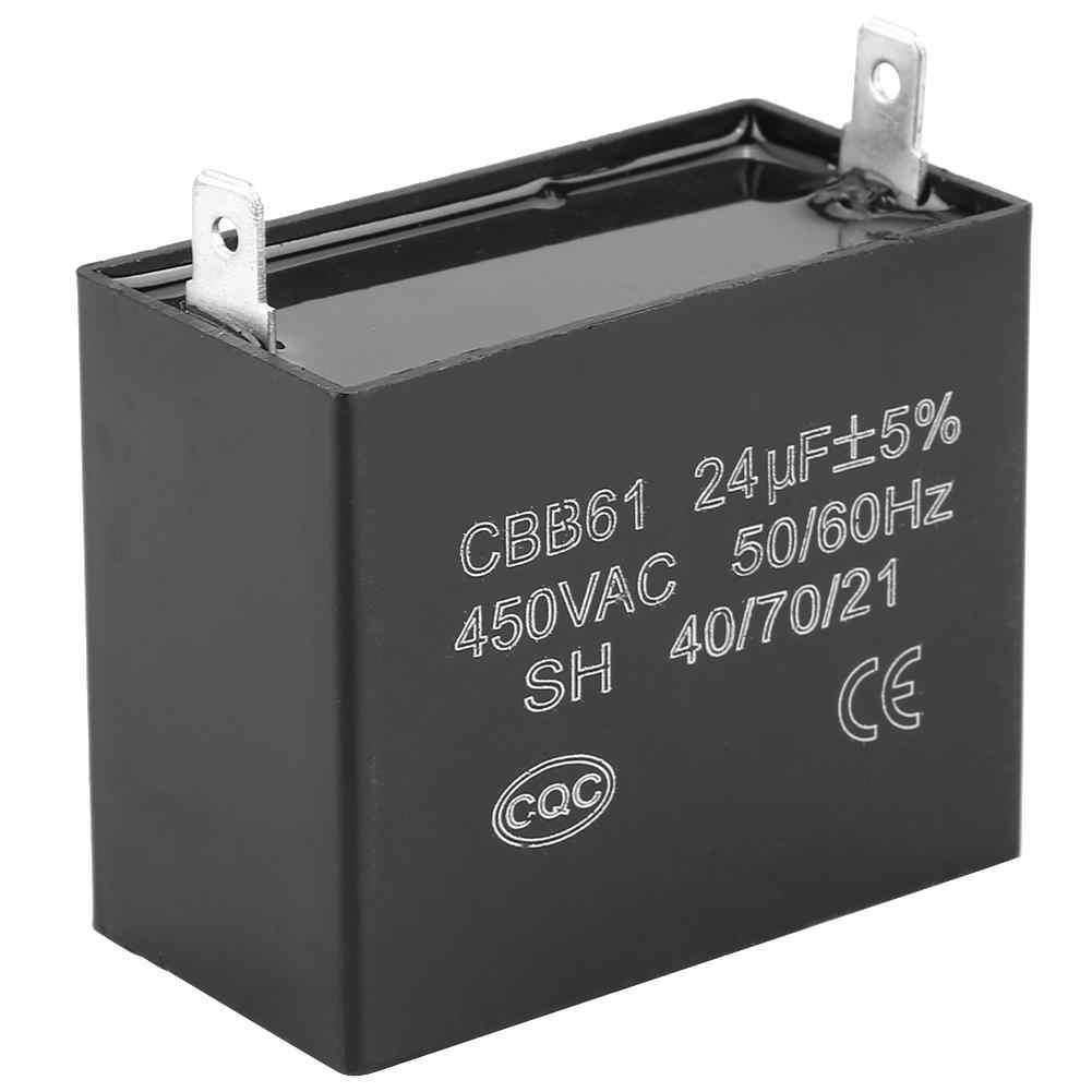 1pcs Cbb61 Starting Capacitance Ac Fan Capacitor 450v Ac 24uf 50 60hz Motor Run Capacitor 400 350 300 250vac Ul Ru Ac Motor Aliexpress