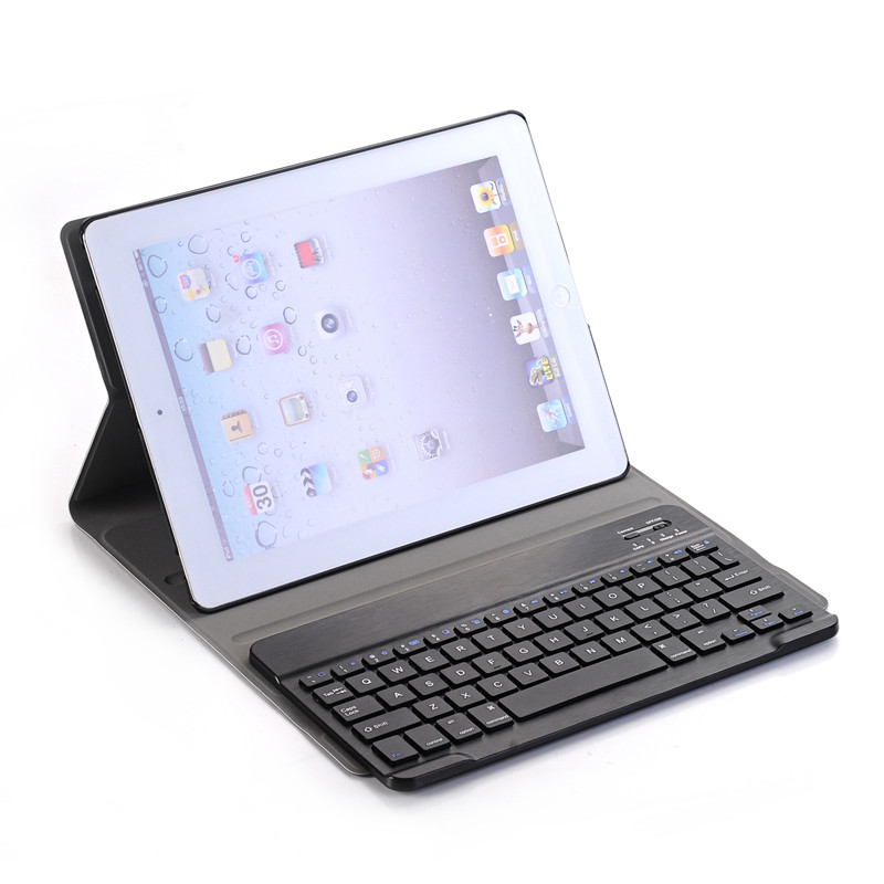 все цены на Luxury Case for Apple iPad 2 3 4 Bluetooth Keyboard Leather Tablet Cover for iPad 2 for iPad 3 for iPad 4 Smart Case Auto Sleep онлайн