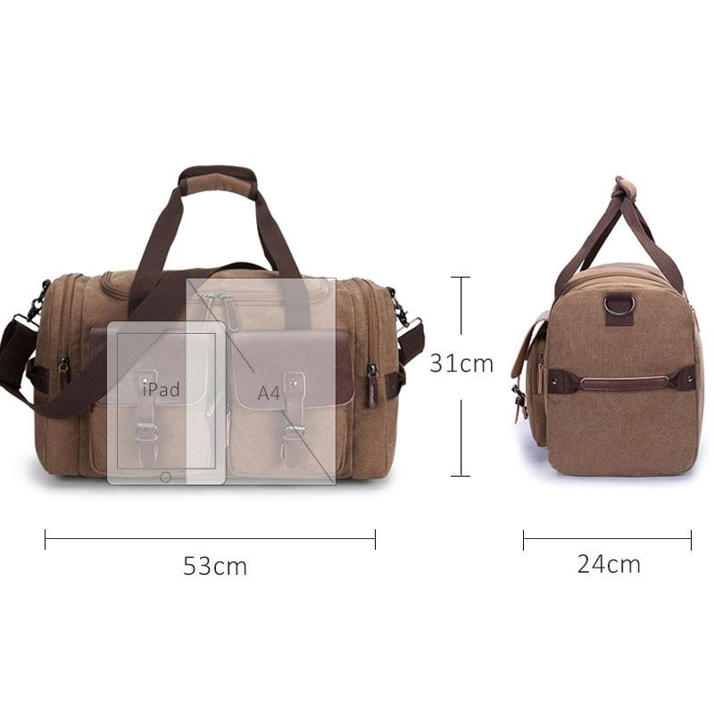 Top Quality Male Luggage Large Capacity Travel Bag Men Shoulder Handbag Crossbody Travel Duffel Bags Women Duffle Weekend Bag-in Travel Bags from Luggage & Bags    2