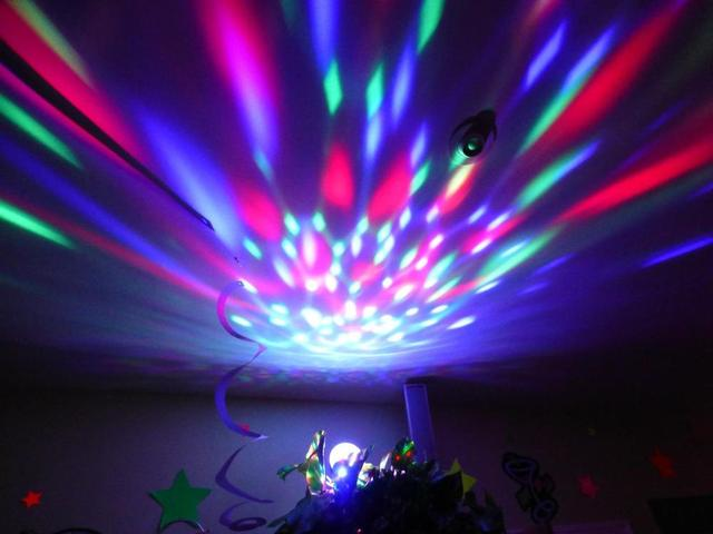 Rotating Strobe E27 LED Crystal Stage Lighting Lights Background For Disco Party Club Bar DJ