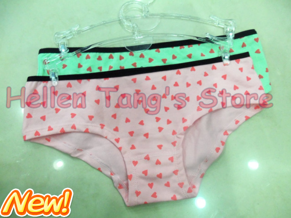 Hot Sale Vs New Cotton Briefs Little Hearts Sexy Pink Panties Freeshipping Vs -4590