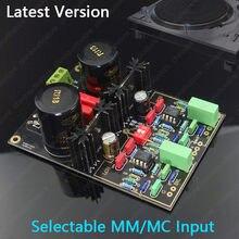 Circuito duplo do pré-amplificador do pré-amplificador da plataforma giratória de v2020 mm mc phono, opamp atualizável