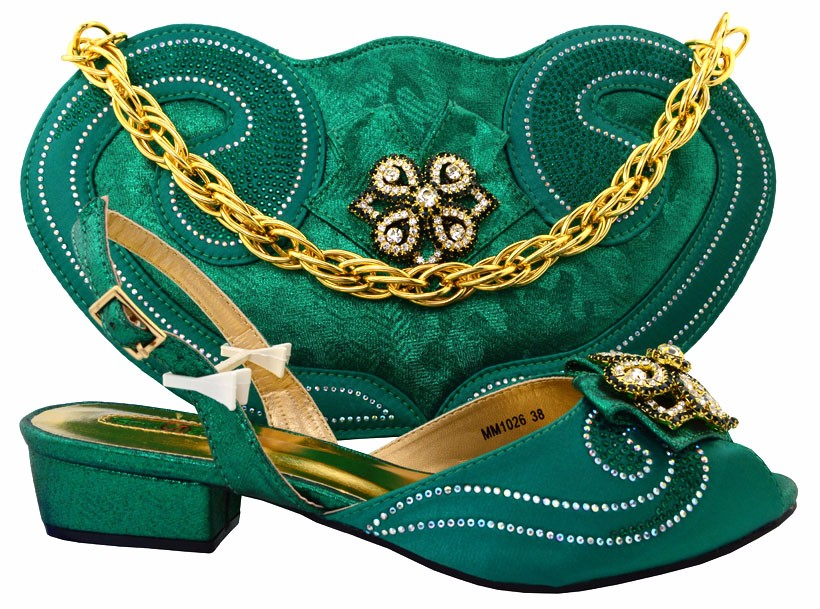 ФОТО Italian Women Shoe And Matching Bag Set For Party African Shoes And Bag To Match Set Wedding Sanda MM2204