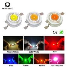 10 шт. 1 Вт 3 Вт Светодиодный светильник высокой мощности Светодиодный s чип SMD теплый белый красный зеленый синий желтый для Точечный светильник лампа