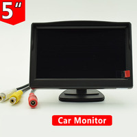 5 Digital Color TFT LCD Car Reverse Monitor For Rearview Camera DVD VCD VCR DVR Car