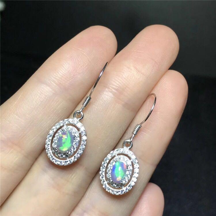 opal stud earrings for wedding 4 mm * 6mm natural fire opal solid 925 silver opa earringsopal stud earrings for wedding 4 mm * 6mm natural fire opal solid 925 silver opa earrings