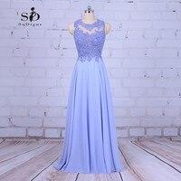 Prom Dresses Cheap 2017 SoDigne Lavender Beaded Lace Applique A Line Elegant Graduation Dresses Newest Coming