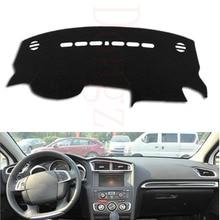 Dongzhen Fit For Citroen C4L 2013-2015 Car Dashboard Mats Cover Avoid Light Pad Instrument Platform Dash Board Cover No taste