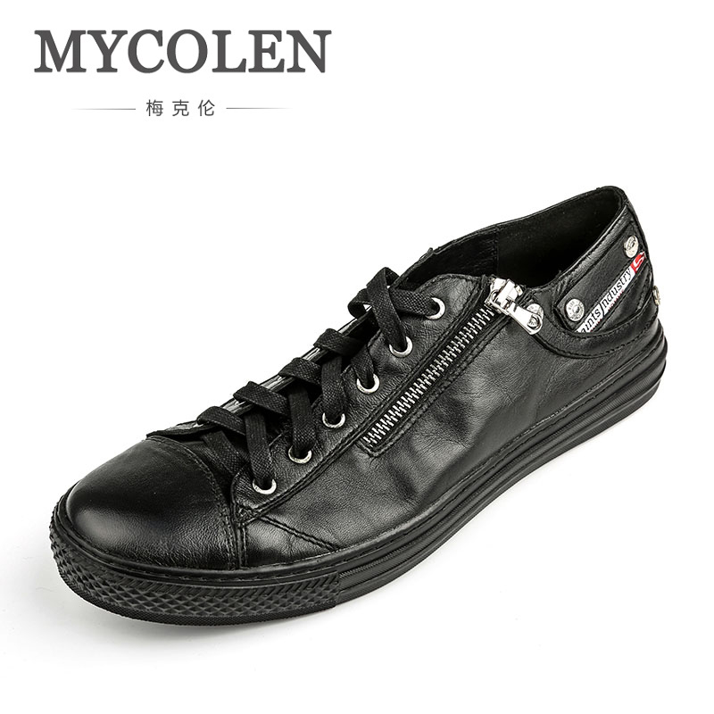 MYCOLEN Lace Up Sneakers For Brand Casual Shoes Luxury Designer Men Summer Walking Shoes Sneakers Shoes Men Sepatu Casual Pria mycolen the new listing men shoes brand new fashion mens sneakers 2018 breathable elastic band casual shoes man sepatu pria