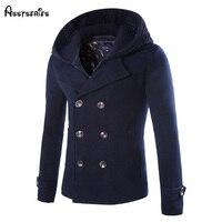 شحن مجاني 2018 الخريف الشتاء رجل جديد معاطف الرجال سترة مع غطاء عالية الجودة الأزياء سترات معطف الملابس d124