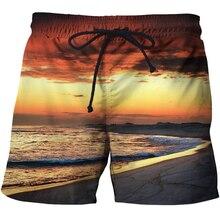 Высокое качество Мужские шорты с эластичной талией 3d принтер одежда быстросохнущая Фитнес Бодибилдинг дышащие свободные шорты летние пляжные ТЗА
