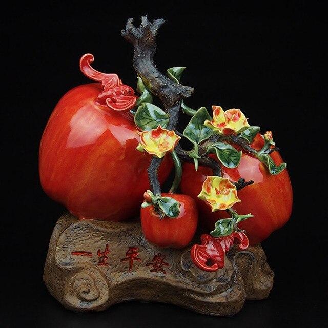 folk art porcelaine en cramique traditionnelle chinoise fruits figurine collection vivid artisanat pommes pour la maison - Pomme Ceramique Pour Decoration