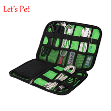 Let's Pet Organizer System Kit Case Storage Bag Digital Gadget Devices USB Cable Earphone Pen Travel Insert Portable Storage Bag
