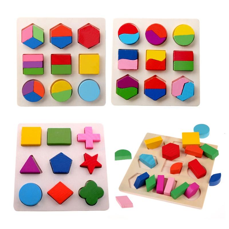 BS # S Copii Baby De învățare de lemn Geometrie Educaționale - Jocuri și puzzle-uri - Fotografie 1