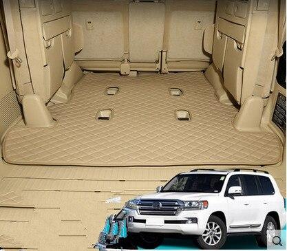 Good! Special trunk mat for Toyota Land Cruiser 200 7 seats 2018-2007 waterproof boot carpets cargo liner mats,Free shipping good land