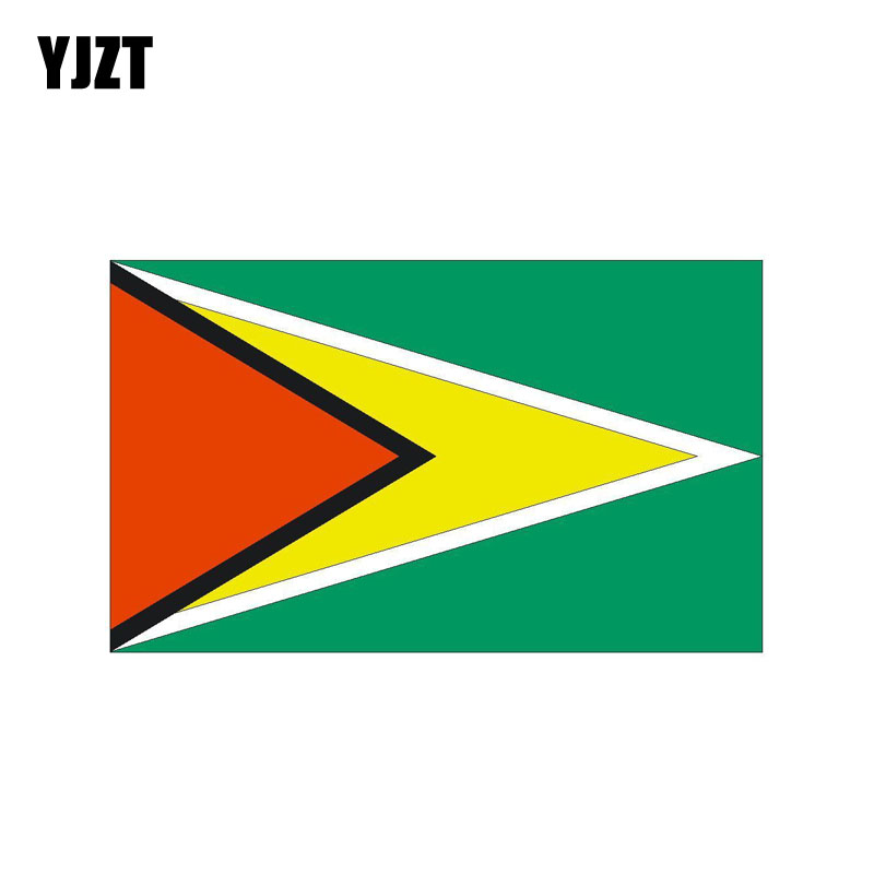 Guyana Flag Decal Car 3D Chrome Emblem Sticker
