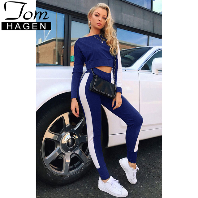 f8e120b5be 2018 Autumn Tracksuit Women Two Piece Outfits Sport Suits Set Woman Sweat  Pants Red 2 Piece