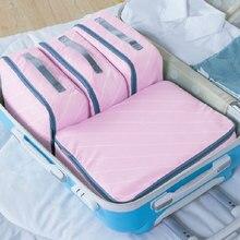 4pcs Waterproof Nylon Travel Cohtes Bag Travel Washing Bag Luggage Bag Case High Capacity Pouch Organiser Portable Case