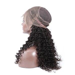 Image 5 - Poker Face Deep Wave pelucas de cabello humano 360, cabello Remy brasileño de Color natural, peluca prearrancada de 10 30 pulgadas, Onda de agua