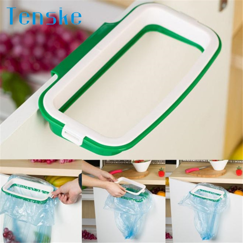 Tenske Hanging Kitchen Cupboard Cabinet Tailgate Stand Storage Garbage Bags Rack #20 2017 Gift 1pc Drop shipping