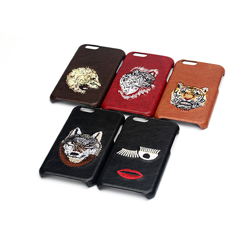 3D Tiger Wolf Leather Cases For Iphone 6 6S 7 Fitted Covers Anti-knock Plastic PU Animal Phone Bags For Apple Iphone6S 67 Cases