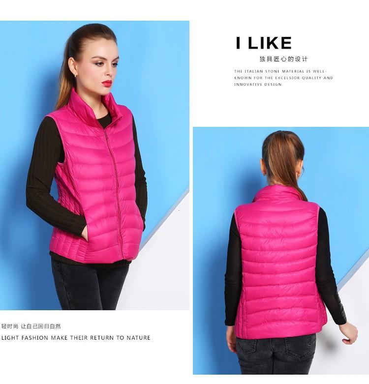 78db32784851 16 Color Plus Size 2015 Autumn Winter Sleeveless Jacket Female Ultra ...