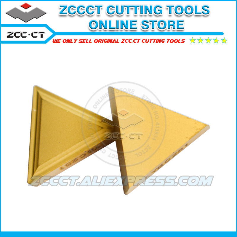 50pcs ZCC milling cutter TPMR160304 YBC251 ZCCCT carbide triangle insert TPMR 160304 TPMR321 for milling of
