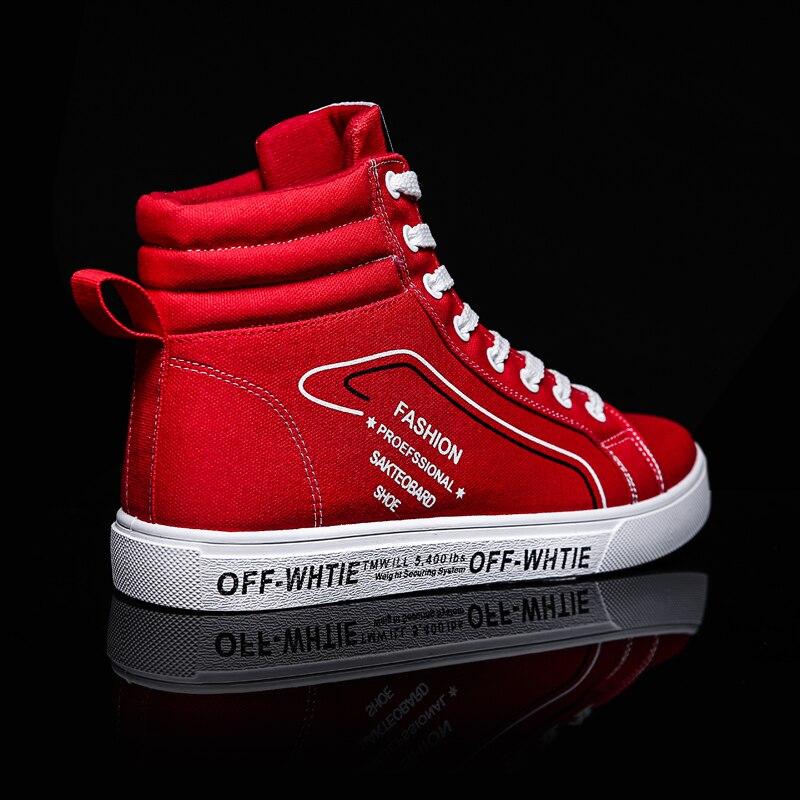Plein Chaussures Mode Épais 2019 Planche Jeunes Haute gris Air Roulettes rouge Pour En Toile Nouvelle Plat Aider Tendance Étudiant Noir De À Hommes Coton Casual zFqzx4A