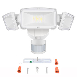 Image 4 - 230V Three Head Solar Light Radar Sensor Spotlight Waterproof Outdoors Solar Garden Light Super Bright Yard Flood LED Lamp