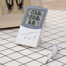 цена на 1 pcs Digital Thermometer Hygrometer Electronic LCD Temperature Humidity Meter Weather Station Indoor Outdoor Hygrometer