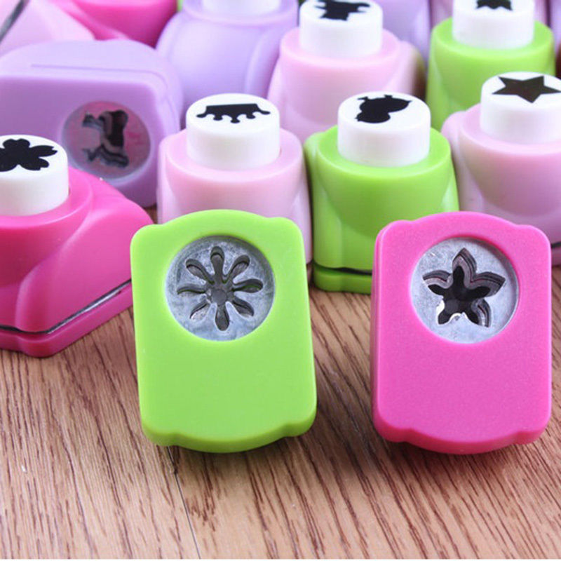 Mini Printing Paper Flower Cutter Shapes Craft Toys Punch DIY Puncher Paper Cutter Scrapbooking Punches  Crafts For Kids-10