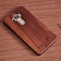 For LG G4 Wood Case Rose Wooden Cover Phone Cases For LG G2 G3 G4 G5