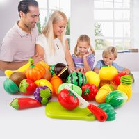29Pcs/Set Pretend Play Toys Fruit Vegetable Cutting Food Play Early Development and Education Toys for Baby Kids Kitchen Toys