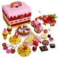 Eco Friendly do bebê DIY fingir o papel que joga brinquedos bonito arco-íris de madeira Aftertnoon jogo de chá