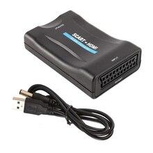 Konwerter Audio SCART na HDMI ekskluzywny konwerter 1080P wejście SCART wyjście HDMI Adapter do odtwarzacza Blu Ray SKY HDTV DVD