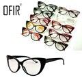 Ofir gato ojo gafas marco del espejo del llano decoración accesorios marcos ópticos gafas mujeres sexy retro glasseseyewear