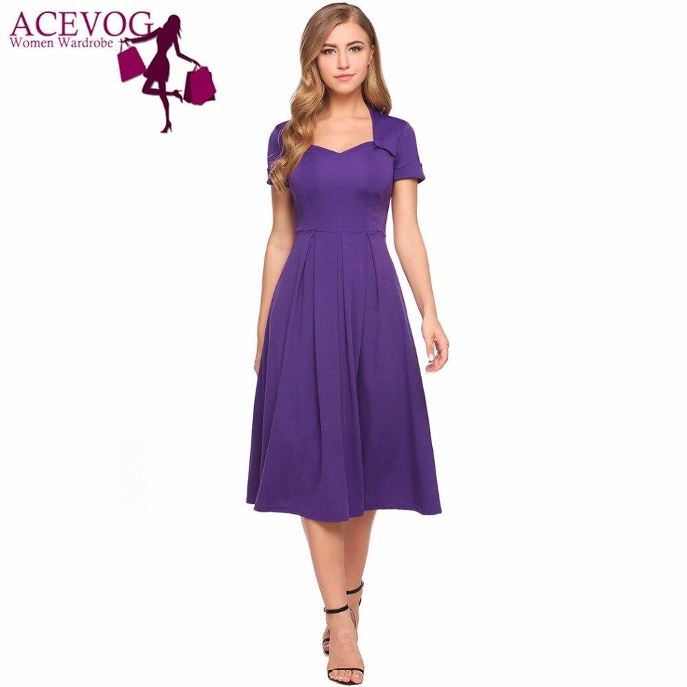Comparación de precios Acevog mujeres vestido verano otoño vintage ...