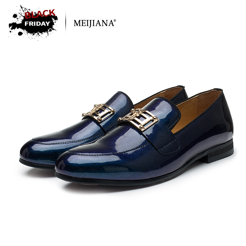 цена 2017 men leather shoes MeiJiaNa Brand handmade comfortable formal dress men flats