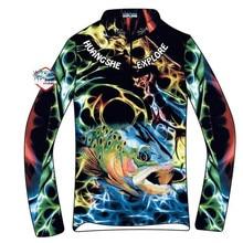 Летние для мужчин рыбалка костюмы дышащий Sunproof открытый быстросохнущая одежда для рыбалки пальто Ice Шелковый Спорт Одежда новые модные