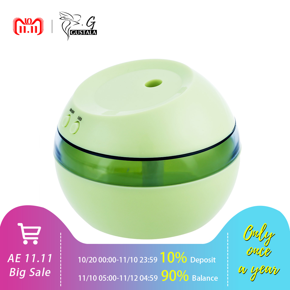 Creative Portable 5V Ultrasonic Humidifier Mini USB Air Humidifier Aromatherapy Machine LED Light Aroma Diffuser For Home Office ivyshion 1pc arotrerapy humidifier creative heart fireworks led night light air humidifier seven colors aroma diffuser for home