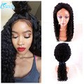 8A Grade Deep Curly Wigs Gluless Full Lace Human Hair Wigs With Baby Hair, Brazilian Virgin Hair Deep Wave Front Lace Wigs