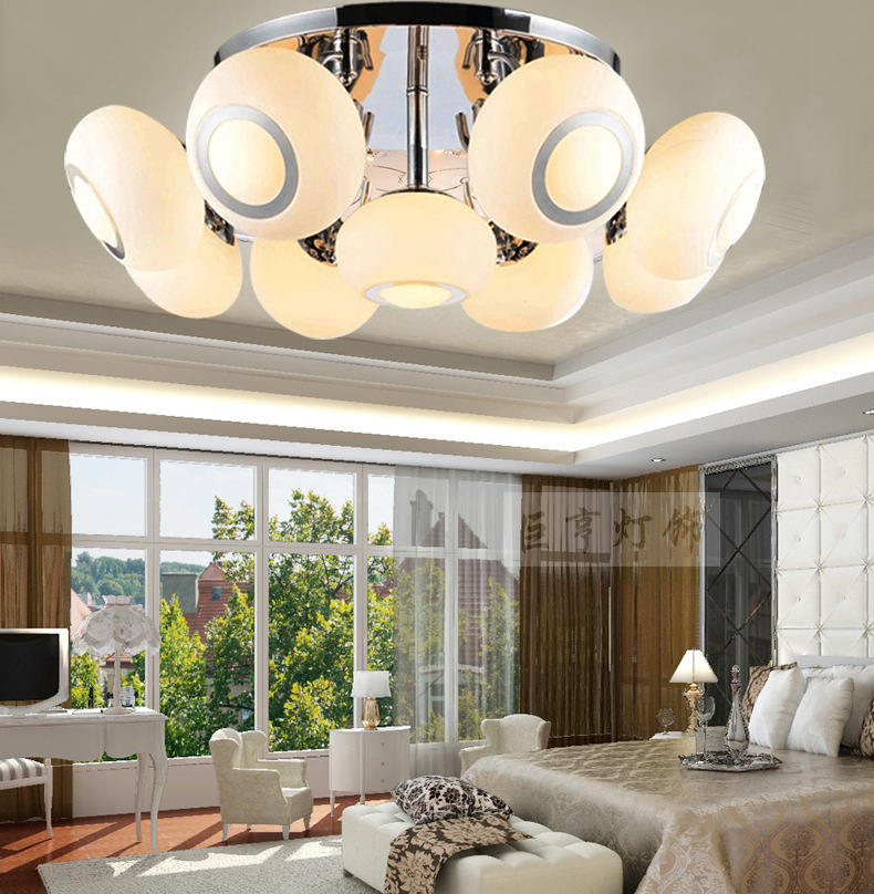 Modern Ceiling Lamp Living Room Ceiling Lamp Led Creative Fashion Bedroom  Ceiling Glass Lamps 3 Lights Led Drop Ceiling Light In Ceiling Lights From  Lights ...
